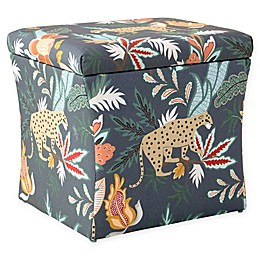 Skyline Furniture Safari Storage Ottoman in Navy
