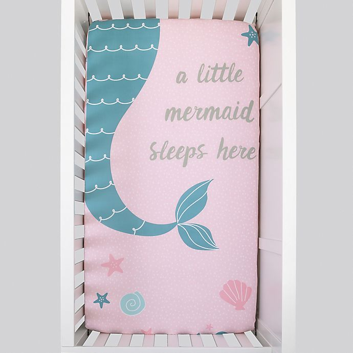 Alternate image 1 for NoJo® Sugar Reef Mermaid Fitted Crib Sheet