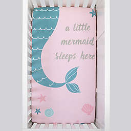 NoJo® Sugar Reef Mermaid Fitted Crib Sheet