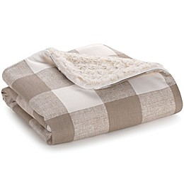 Liz and Roo Buffalo Check Blanket in Taupe