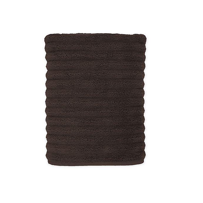 Alternate image 1 for Turkish Ribbed Bath Towel in Dark Brown