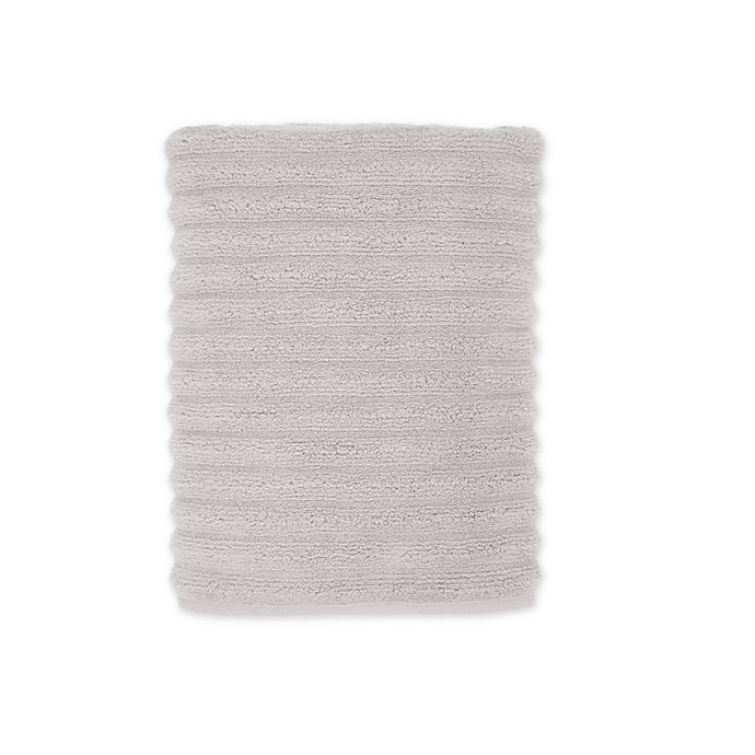Alternate image 1 for Turkish Ribbed Bath Towel in Mica Grey