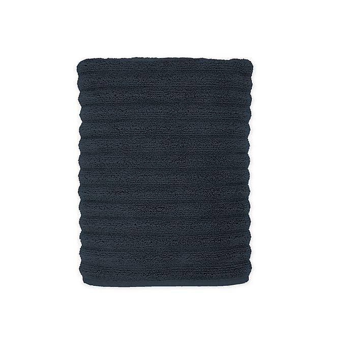 Alternate image 1 for Turkish Ribbed Bath Towel in Denim Blue