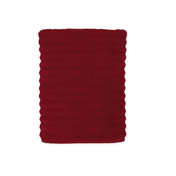 Alternate image 1 for Turkish Ribbed Bath Towel in Tomato