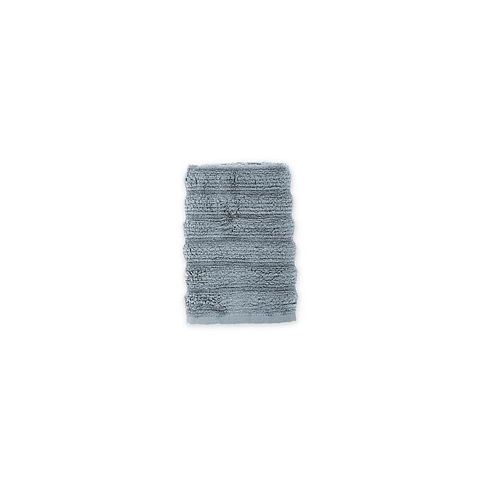 Alternate image 1 for Turkish Ribbed Washcloth in Twilight Blue