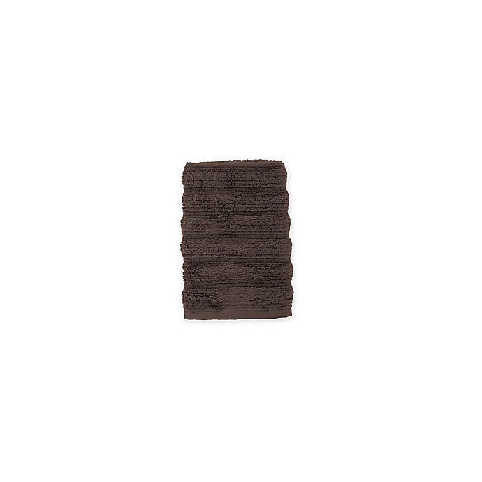 Alternate image 1 for Turkish Ribbed Washcloth in Dark Brown