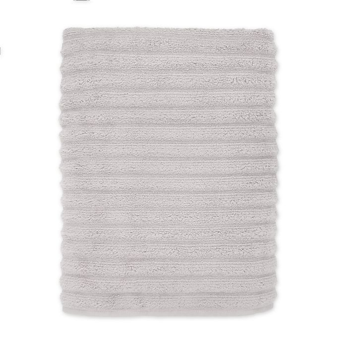 Alternate image 1 for Turkish Ribbed Bath Sheet in Mica Grey