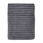 Turkish Ribbed Bath Sheet in Charcoal