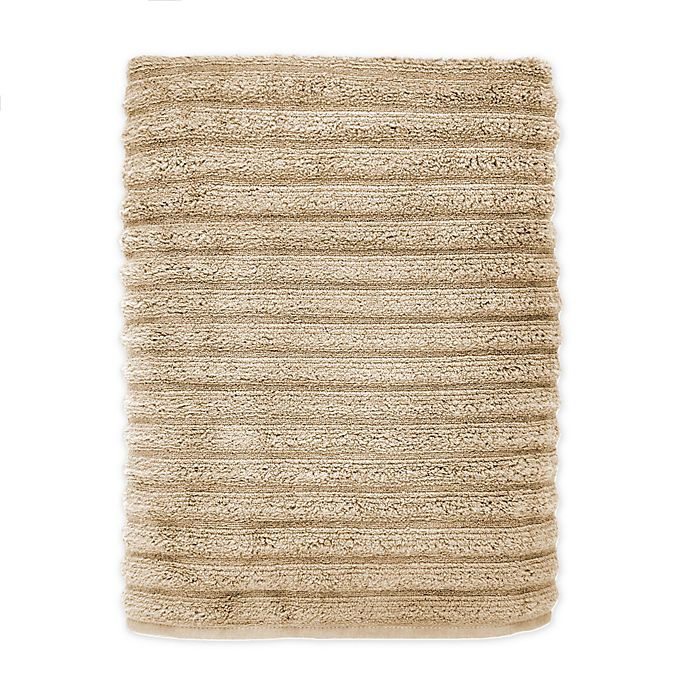 Alternate image 1 for Turkish Ribbed Bath Sheet in Champagne