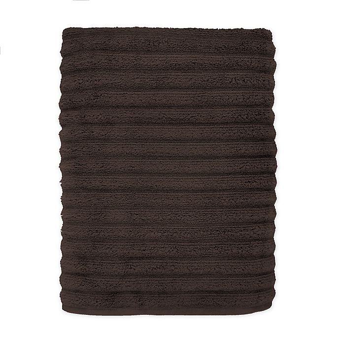 Alternate image 1 for Turkish Ribbed Bath Sheet in Dark Brown