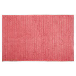 """Turkish Luxury 20"""" x 28"""" Ribbed Bath Mat in Coral"""