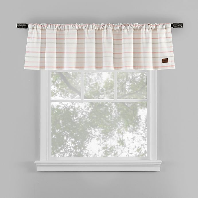 Ugg 174 Lena Striped Window Valance In Pink Bed Bath Amp Beyond