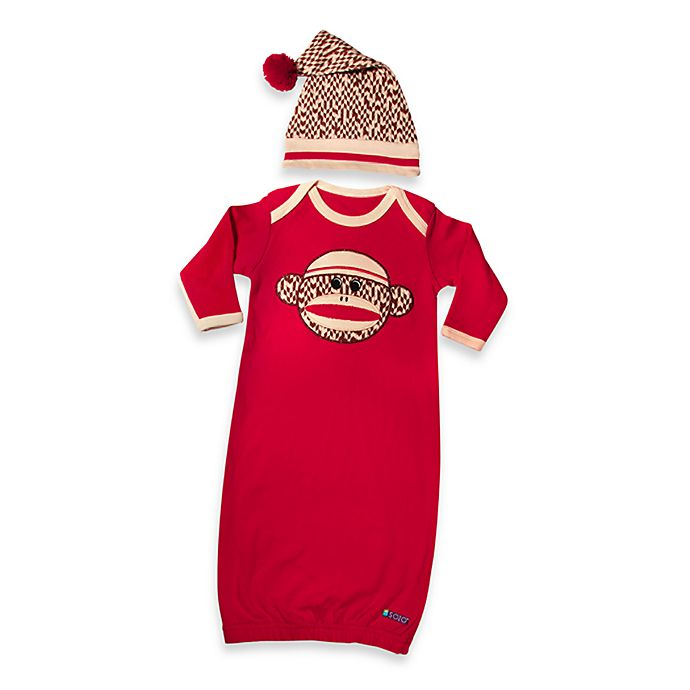 Sozo® Sock Monkey Gown and Cap Set | buybuy BABY
