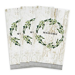 "C.R. Gibson® ""Welcome"" Wreath 16-Count Paper Guest Towels"