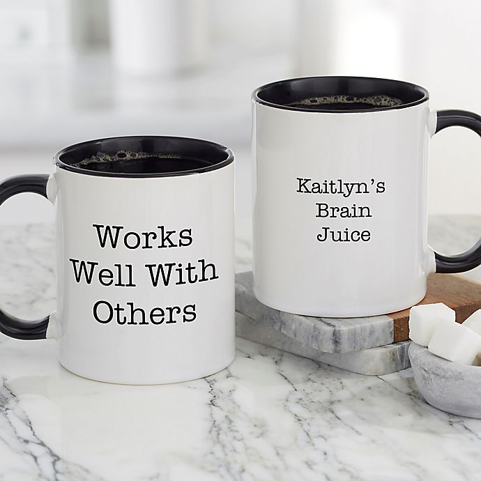 Alternate image 1 for Office Expressions Personalized Coffee Mug 11 oz. in Black