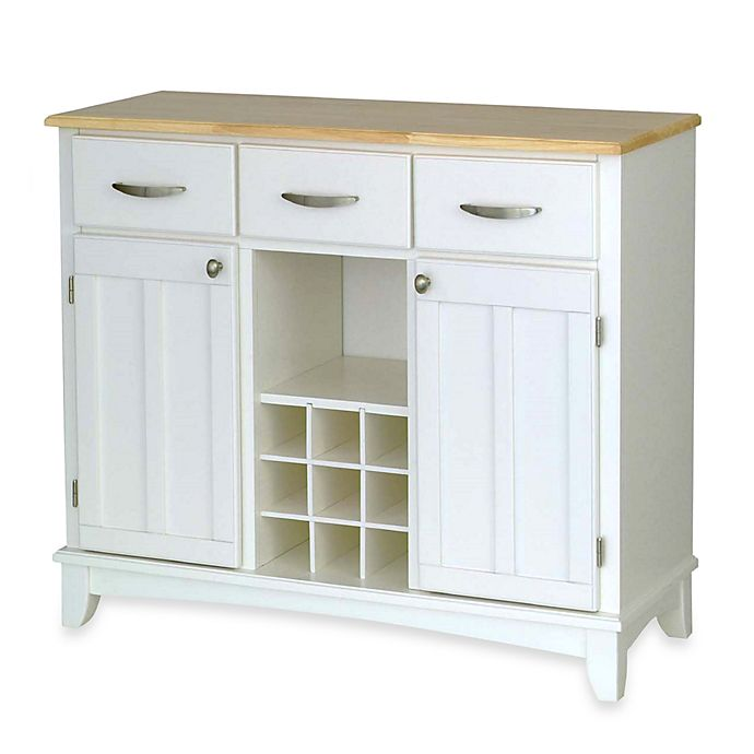 Alternate image 1 for Home Styles Large Buffet/Server with Natural Wood Top