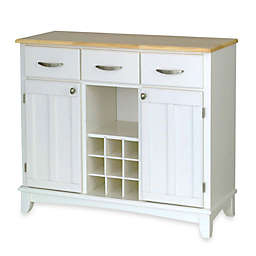 Home Styles Large Buffet/Server with Natural Wood Top  in Oak