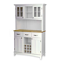Home Styles Natural Wood Top Large Buffet/Server with Hutch
