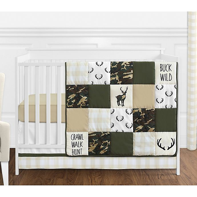Sweet Jojo Designs Woodland Camo 4 Piece Crib Bedding Set