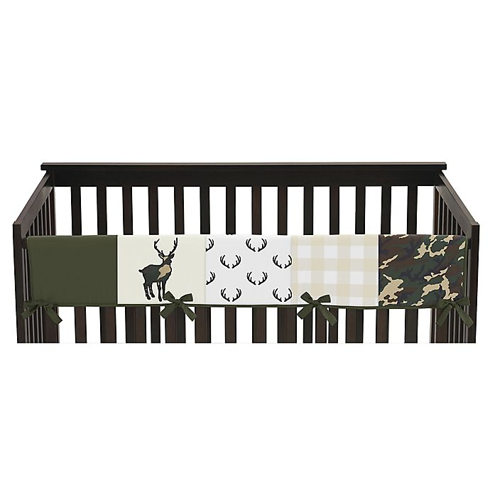 Alternate image 1 for Sweet Jojo Designs Woodland Camo Long Crib Rail Guard Cover