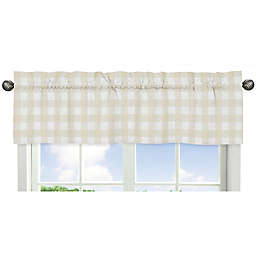 Sweet Jojo Designs® Woodland Camo Buffalo Check Window Valance in Beige/White