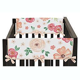 Sweet Jojo Designs® Watercolor Floral Short Crib Rail Guard Covers (Set of 2)