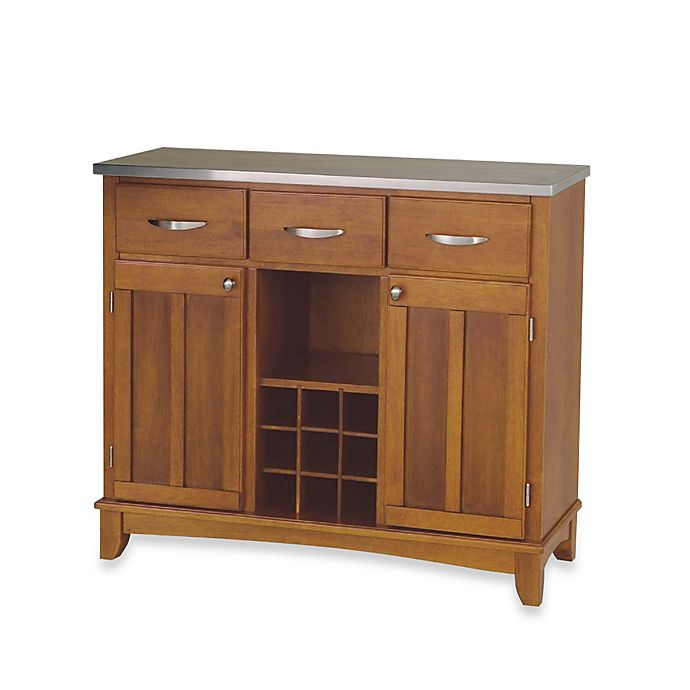Alternate image 1 for Home Styles Large Buffet/Server with Stainless Steel Top