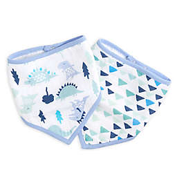 aden® by aden + anais® 2-Pack Dinos Bandana Bibs in Blue