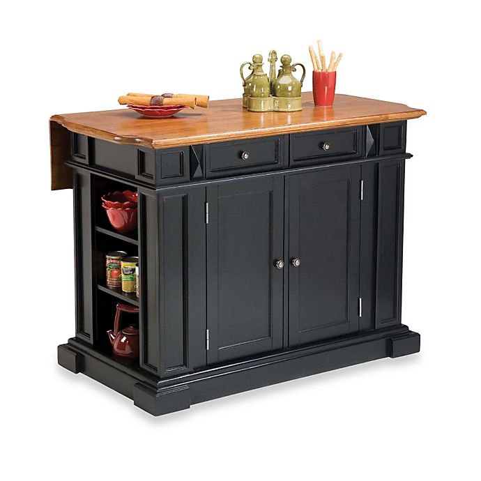 Home Styles Kitchen Island With Distressed Oak Top Bed Bath Beyond