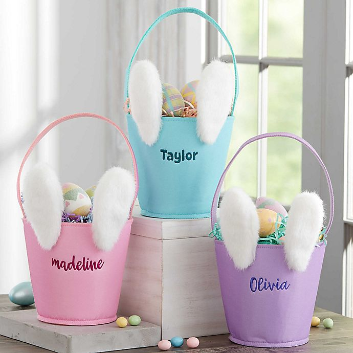 Alternate image 1 for Mod Bunny Personalized Easter Basket