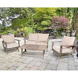 Aluminum Patio Furniture Collection in Dark Brown