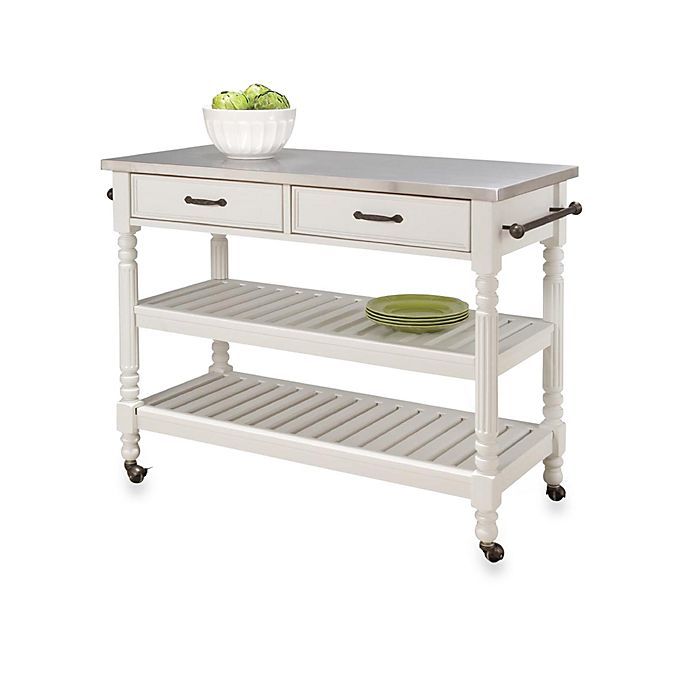 Liberty Kitchen Cart With Stainless Steel Top By Home Styles ...