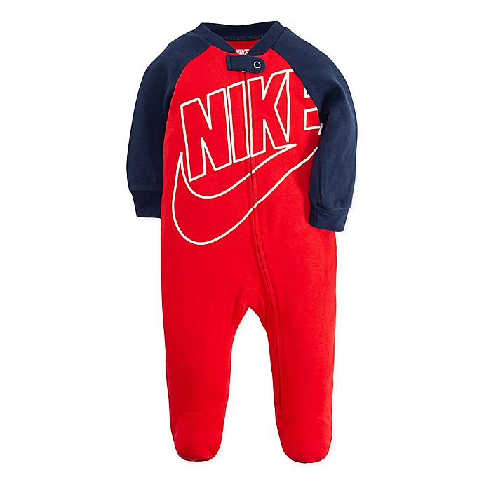 Alternate image 1 for Nike® Futura Footie in Red/Navy