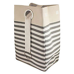 Bee & Coco Collapsible Hamper in Grey Ombre Stripe