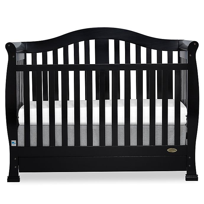 Alternate image 1 for Dream On Me Addison 5-in-1 Convertible Crib with Storage in Black