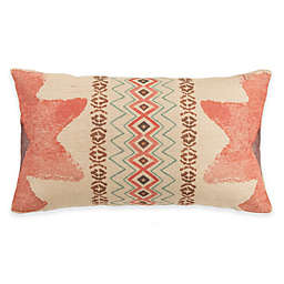 HiEnd Accents Sedona Burlap Oblong Throw Pillow in Pink/Taupe