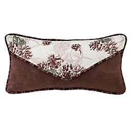 HiEnd Accents Forest Pine Pine Cone Oblong Throw Pillow in White/Brown