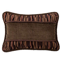 HiEnd Accents Forest Pine Corduroy Oblong Throw Pillow in Brown/Green