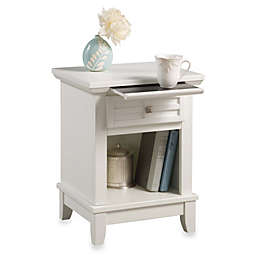 Home Styles Arts & Crafts Nightstand in White