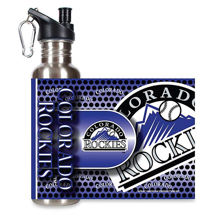 Alternate image 1 for Colorado Rockies Stainless Steel Water Bottle