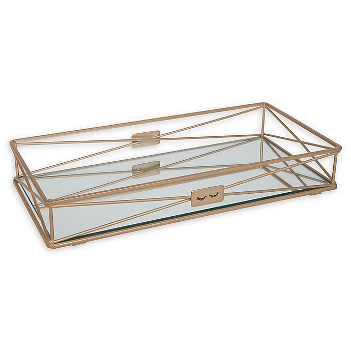 Home Details Gorgeous Vanity Tray in Gold | Bed Bath & Beyond