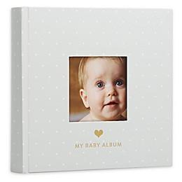 Pearhead® Baby Photo Album in Grey/White Polka Dots