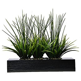 Laura Ashley® 14-Inch Tall Artificial Grass in Black Planter