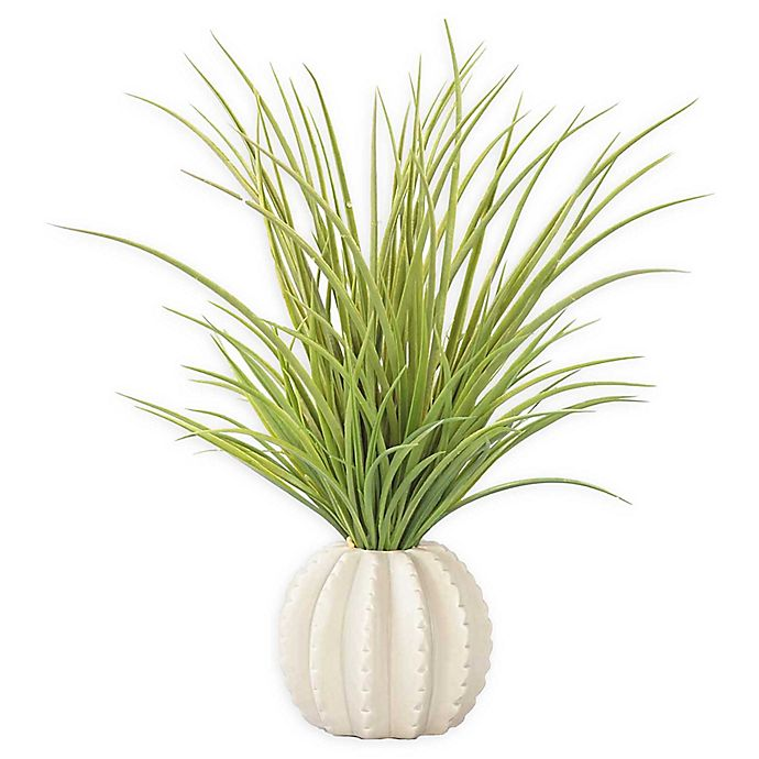 Alternate image 1 for Laura Ashley 17-Inch Artificial Tall Grass with Ceramic Vase in Taupe