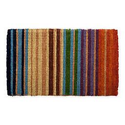 "Entryways Rainbow 18"" x 30""  Thick Coir Door Mat"