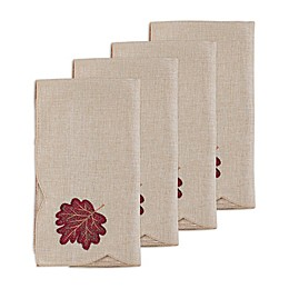 Autumn Bliss Cutwork Napkins (Set of 4)