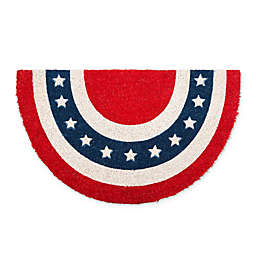 Design Imports Patriotic Coir Door Mat in Red