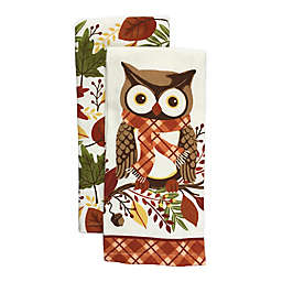 Harvest Owl Kitchen Towel Set (2-Pack)