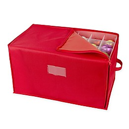 Stackable Christmas Ornament Storage Box in Red