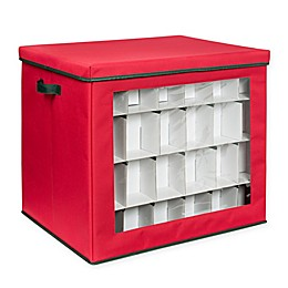 Honey-Can-Do® Ornament Storage Cube in Red